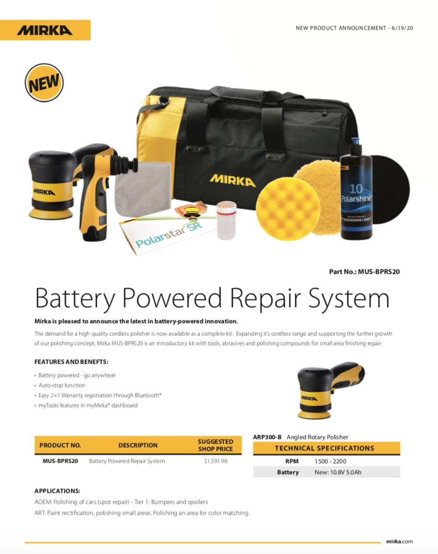 Mirka Battery Powered Repair System