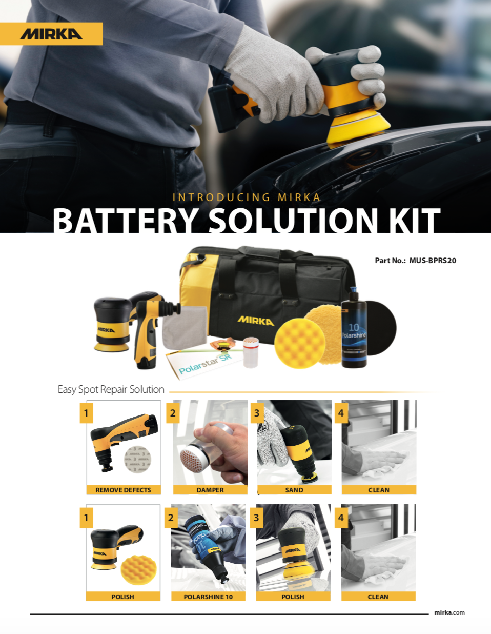 Mirka Battery Solution Kit
