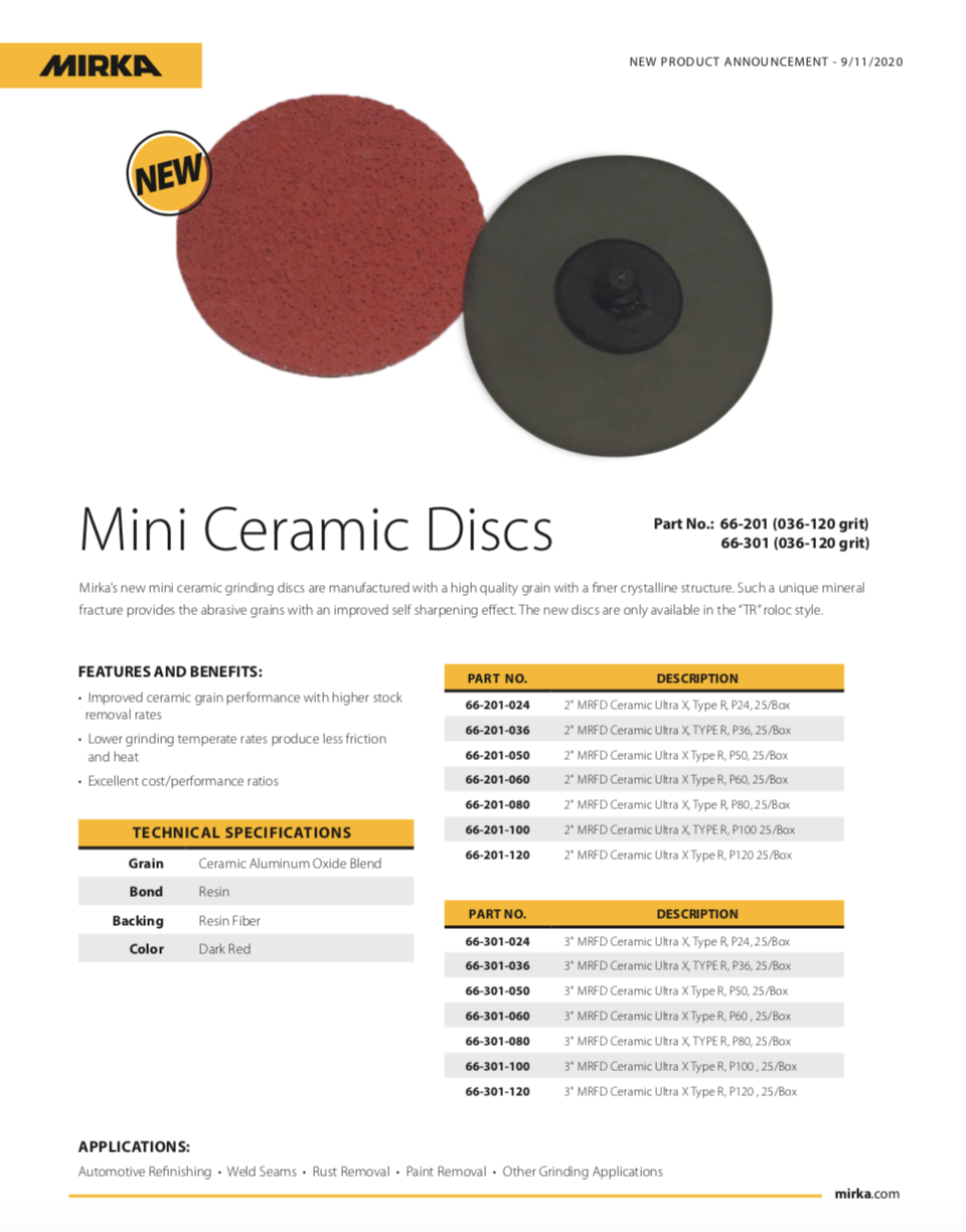 Mirka Mini Ceramic Discs