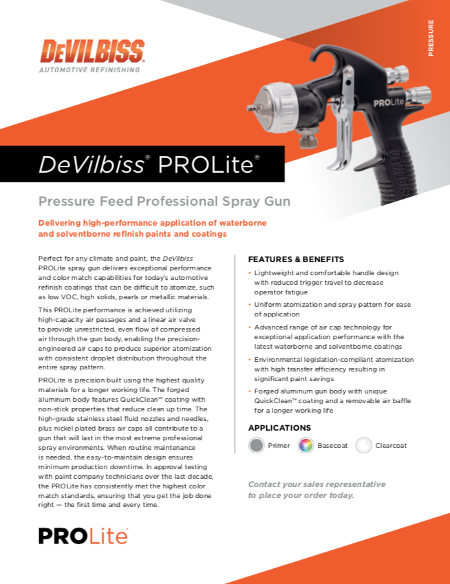 DeVilbiss Pro Lite Pressure
